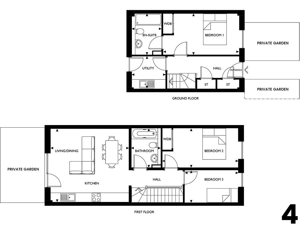 3beds ground 1floor type2 block b 4 the ropeworks for 1 2 3 floor